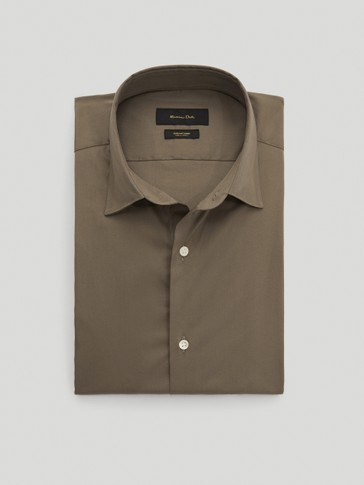 Slim-fit stretch cotton shirt