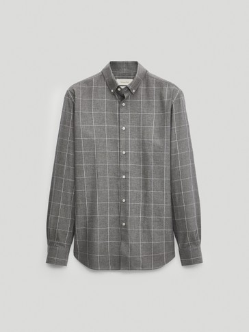 Regular fit 100% cotton check shirt