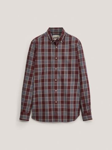 Camisa cuadros 100% algodón slim fit