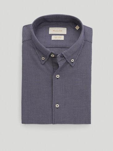 Hemd im Regular-Fit aus reiner Baumwolle mit Strukturmuster