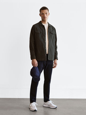 Dyed regular fit overshirt