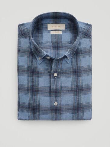 100% ľanová slim fit košeľa