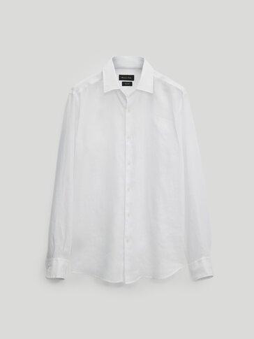 100% linen slim-fit shirt
