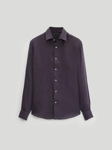 Camisa 100% lino slim fit