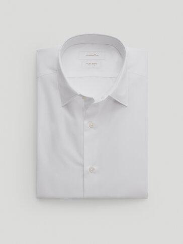 Camisa popelina algodão slim fit