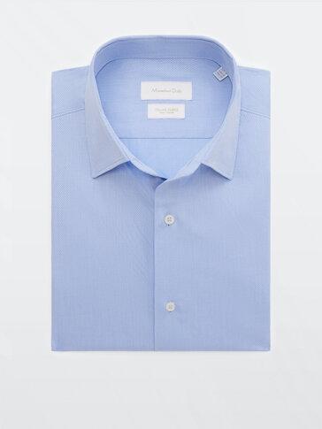 Camisa estrutura de algodão slim fit