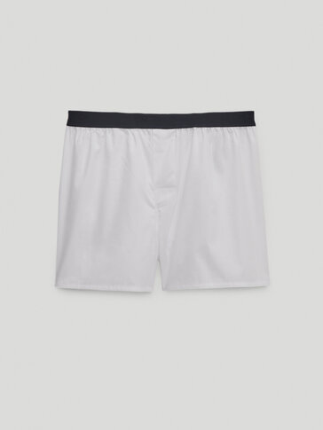 Pack of boxers with contrasting waistband