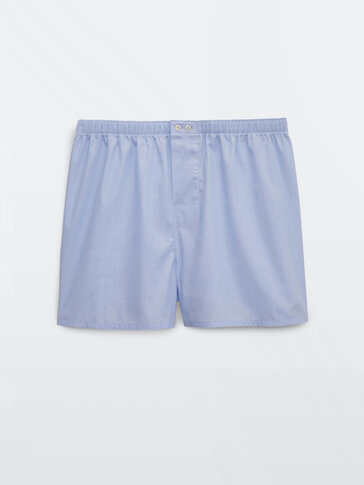 Fil-à-fil cotton boxers