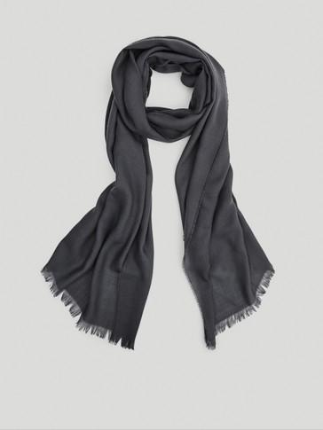 100% wool twill scarf