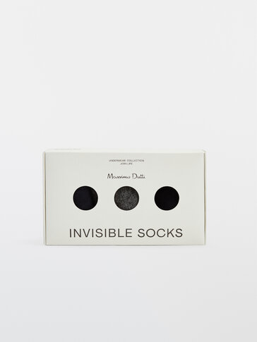 Pack of cotton no-show socks