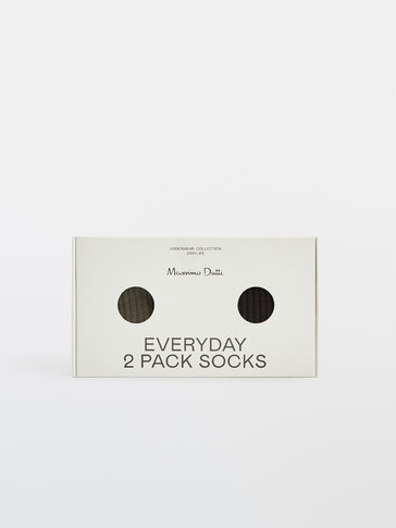 Pack of ribbed cotton socks