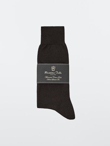 Plain yarn socks
