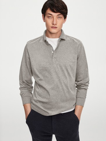 100% cotton long sleeve Polo shirt