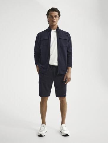Cotton cargo Bermuda shorts