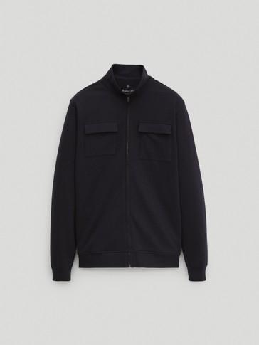 Куртка с карманами и застежкой на молнию