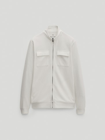 Overshirt with pockets and zip