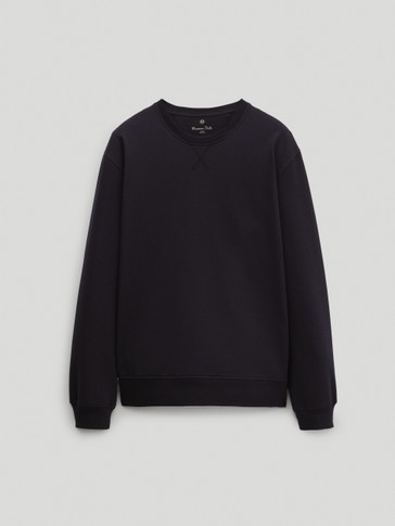 Crew neck cotton sweatshirt