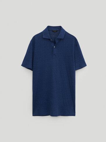 100% linen short sleeve Polo shirt
