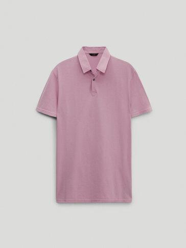 قميص بولو بأكمام قصيرة من القطن 100%
