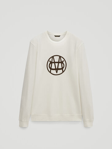 Cotton sweatshirt with logo detail
