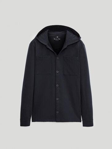 Sobrecamisa algodón con capucha