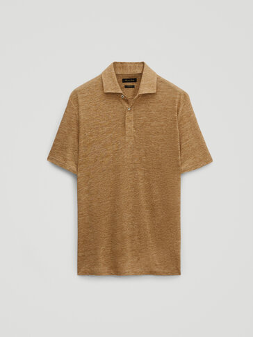 100% linen short sleeve polo - Limited Edition