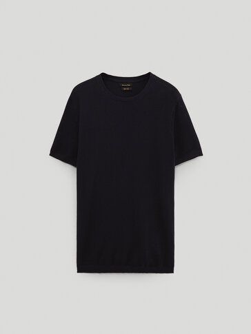 Strikket t-skjorte i 100 % cotton