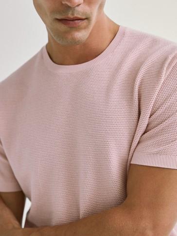Πλεκτή μπλούζα από 100% βαμβάκι
