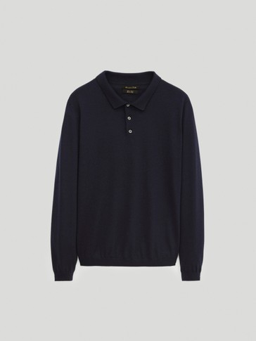 100% cotton polo sweater