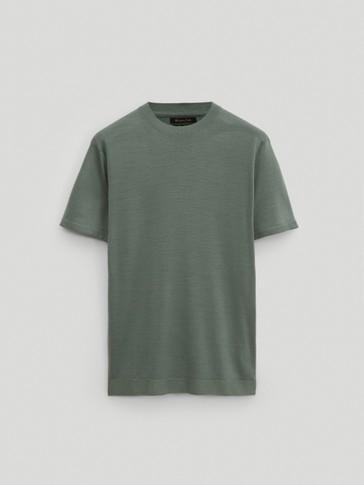 100% wool knit t-shirt