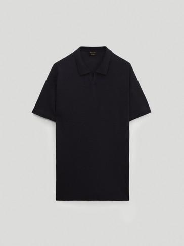 Jersey polo manga corta lana merino