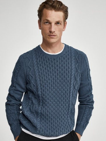 Cotton cable-knit sweater