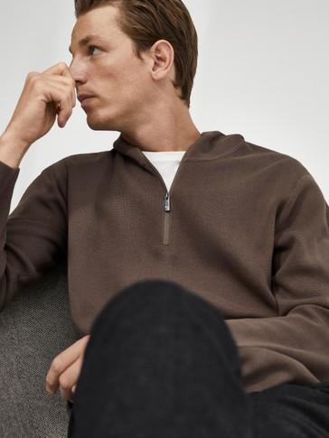 Sudadera de punto capucha 100% algodón