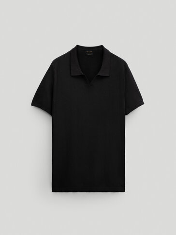 100% cotton short sleeve polo sweater
