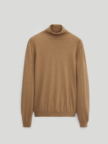 Plain cotton cashmere silk sweater