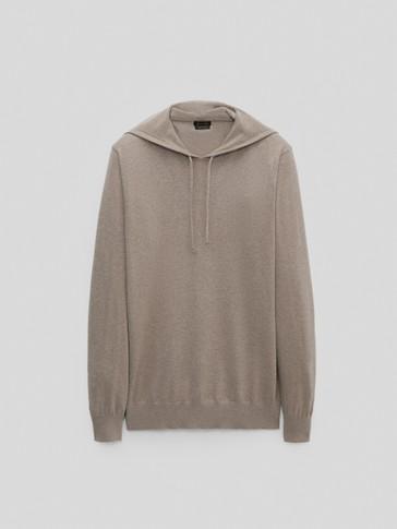 Jersey capucha algodón seda cashmere