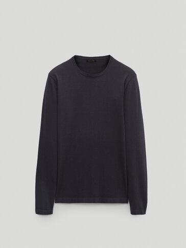 Jersey cuello redondo 100% algodón