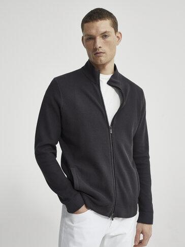 Cardigan en coton zippé