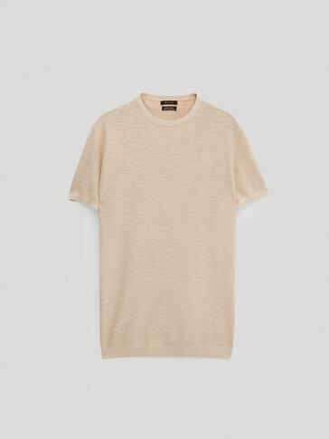 Camiseta de punto algodón lino