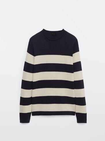 Jersey de punto rayas algodón