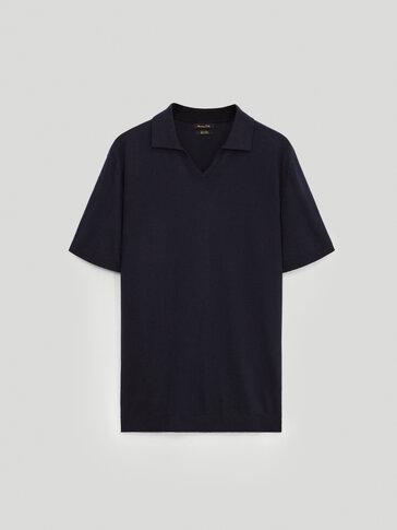 Jersey polo algodón lino
