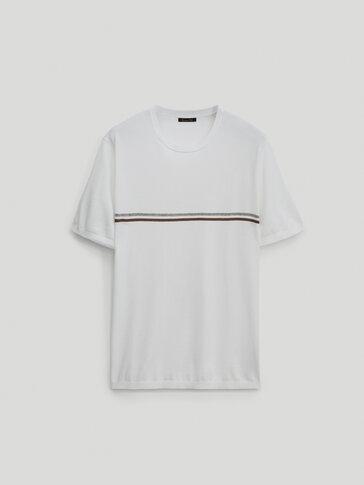 قميص جيرسي من القطن مخطط