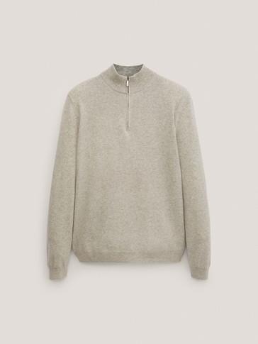 Jersey cuello mock lana cashmere