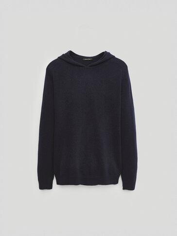 Jersey lana cashmere capucha