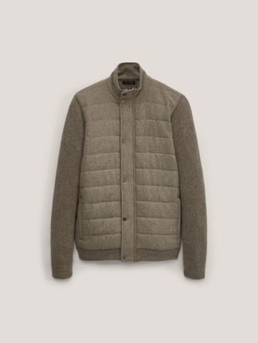 Cárdigan combinado lana