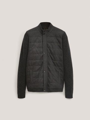 Contrast wool cardigan