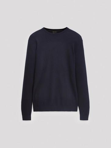 Jersey cuello redondo algodón cashmere
