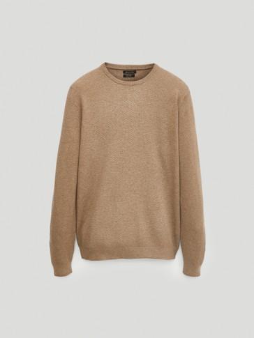 Pullover aus Baumwolle und Kaschmir mit Rundausschnitt