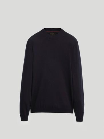 Jersey cuello perkins algodón seda cashmere
