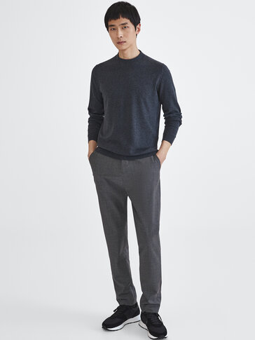 Mock turtleneck sweater in cotton, silk and cashmere